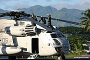 Marine Helicopter and Crew, Mountains in Luzon
