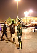 Chinese Soldier at Attention, Tiananmen Square
