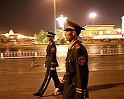 Chinese Soldiers near Tiananmen Square