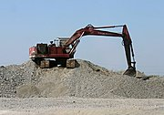 Backhoe on Gravel Pile, the Philippines