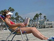 Woman Sunbathing, Oceanside Beach