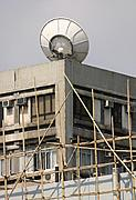 Satelite Dish and Bamboo Scaffolding