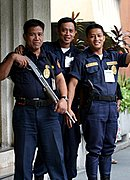 Armed Bank Guards, Manila, The Philippines