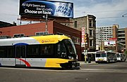 Light Rail Train and Buses