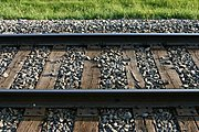 Close-up of Railroad Tracks