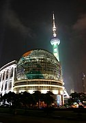 Oriental Pearl TV Tower at Night