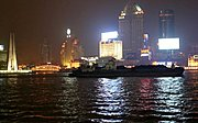 Barge on the Huangpu River at Night
