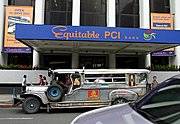 Jeepney at Equitable PCI, the Philippines