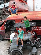 Kids Playing on Vehicles, Manila, the Philippines