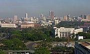 Rizal Park and Intramuros in Manila from Overhead