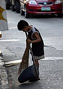 Child Street Sweeper, Ermita, Manila