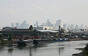 Pasig River and Manila Skyline