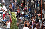 People Living Along Railroad Tracks, Close-up