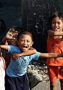 Young Children Playing in Manila