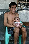 Filipino Man and Infant, Manila
