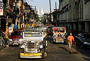 Jeepneys in Quiapo, Manila