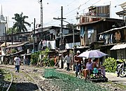 Slum Along Train Tracks, Manila