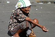 Old Woman in Baclaran, Manila, the Philippines