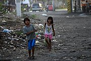 Filipino Boy and Girl Walking Home, Manila