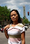 Asian Woman in Uptown, Minneapolis