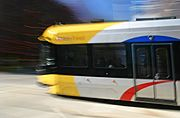 Minneapolis Light Rail Car in Motion