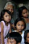 Old Woman and Young Kids, Siteo Pader, The Philippines