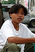 Young Asian Boy in the Philippines
