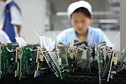 Circuit Boards on Assembly Line