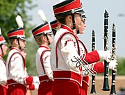 Clarinet Section, Marching Band, Small Town Parade