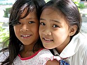 Two Friends in Elementary School, The Philippines