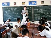 American(Kano) Photographer in a Filipino Classroom