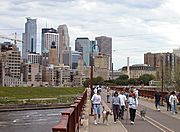 Skyline and the Stone Arch Bridge