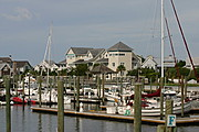 Bald Head Island harbour, North Carolina.
