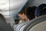 Coach Cabin on a Commercial Airline
