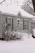 House in Winter after a snowstorm