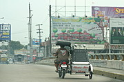 Trike on MacArthur Highway Bridge, Angeles City