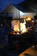 Roast Chicken Stand, Angeles City Street at Night