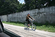 Girl on Bike in the Philippines