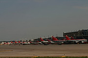 Northwest Airlines Planes Parked at Gates