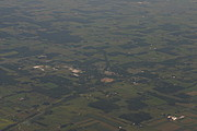 Aerial Shot of Rural Midwest