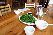 Steemed Green Leafy Vegetables, Restaurant in Guilin, China