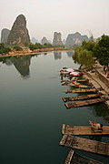 Bamboo Rafts on the Li River, China