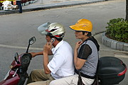 Couple on Motorcycle in Guilin