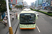 Overhead View of Bus, Guilin, China