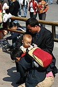 Chinese Father and Young Child in Beijing