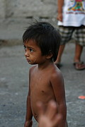 Poor Little Boy in the Street of Manila