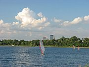 A Windserfer on Lake Calhoun