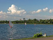 Several Windsurfers on Lake Calhoun