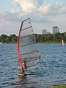 Windsurfer on Lake Calhoun (Close Up)