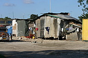 Shanties Near the Construction Site